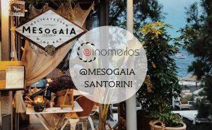 Mesogaia Delicatessen Wine Bar @ Santorini με Οινομελο της Oinomelos